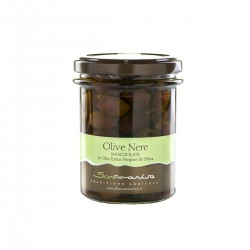 Pitted Black Olives in Extra Virgin Olive Oil - Sommariva - 180gr