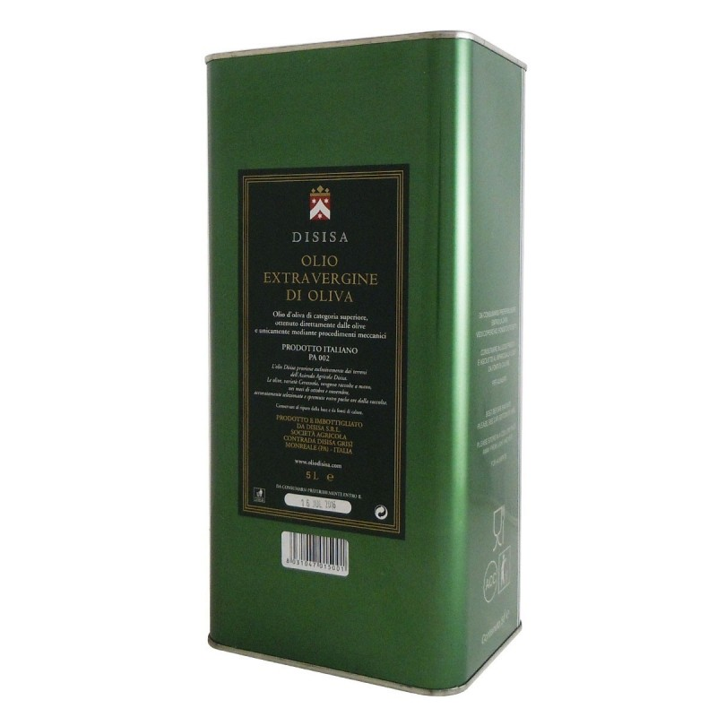 Extra Virgin Olive Oil monovarietale Cerasuola can - Disisa - 5l