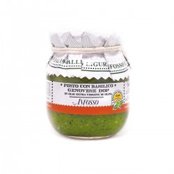 Pesto with genovese basil PDO in Extra Virgin Olive Oil - Anfosso - 85gr