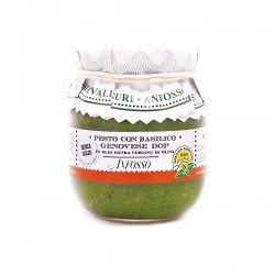 Pesto with genovese basil PDO without garlic in Extra Virgin Olive Oil - Anfosso - 85gr