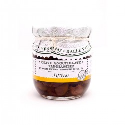 Pitted Taggiasche Olives in Extra Virgin Olive Oil - Anfosso - 185gr