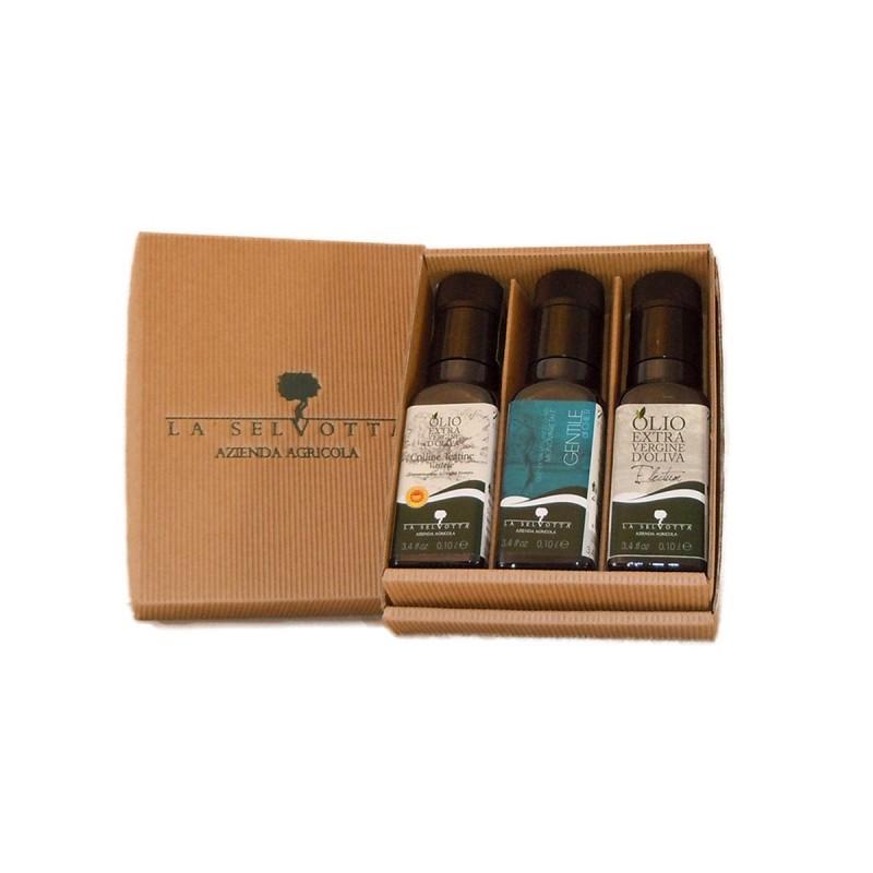 Gift Box Tris Extra Virgin Olive Oil - La Selvotta - 3x100ml