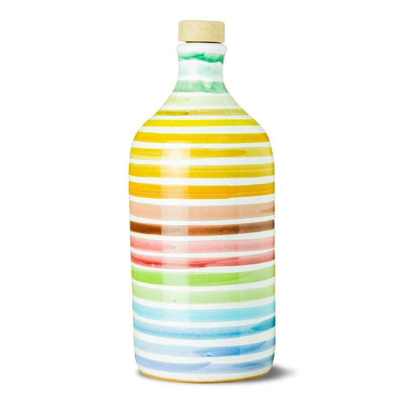 Extra Virgin Olive Oil Rainbow Ceramic Jar peranzana - Muraglia - 500ml