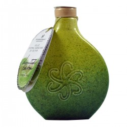 Extra Virgin Olive Oil ceramic flask Green Fog - Silvi Sabina Sapori - 500ml