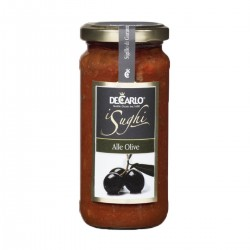 Tomato and Olive Sauce - De Carlo - 220gr
