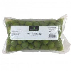 Sweet Green Olives in brine - Quattrociocchi - 500gr