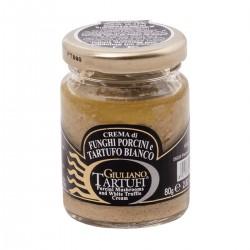 Porcini Mushrooms and White Truffle cream - Giuliano Tartufi - 80gr