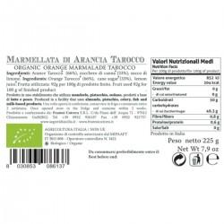 Tarocco Orange  Marmalade organic - Cutrera - 225gr
