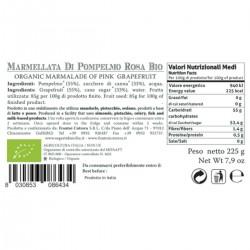 Pink Grapefruit Marmalade organic - Cutrera - 225gr