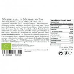 Tangerine Marmalade organic - Cutrera - 225gr