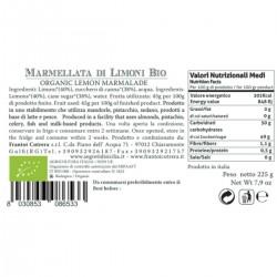 Lemon Marmalade  organic - Cutrera - 225gr