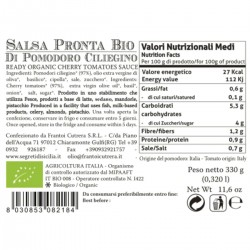 Ready Cherry Tomato Sauce - Cutrera - 330gr