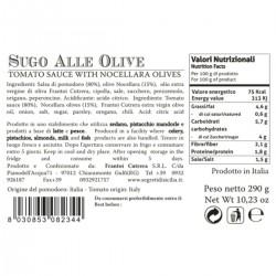 Olives Tomato Sauce - Cutrera - 285gr