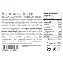 Olives Tomato Sauce - Cutrera - 290gr