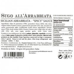 Sicilian Arrabbiata Spicy Sauce - Cutrera - 290gr