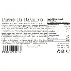 Sicilian Basil Pesto - Cutrera - 190gr
