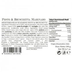 Mediterranean Seafaring Pesto and Bruschetta  - Cutrera - 190gr