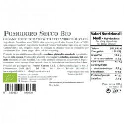 Organic Dried Tomato - Cutrera - 190gr