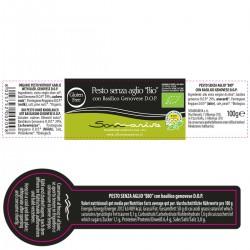 Pesto without garlic Bio - Sommariva - 100gr