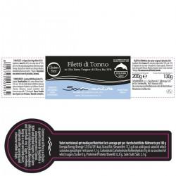 Tuna Fillets in extra virgin olive oil - Sommariva - 200gr