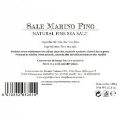 Sicilian Natural Fine Sea Salt - Cutrera - 300gr