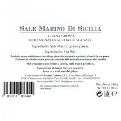 Sicilian Natural Coarse Sea Salt - Cutrera - 300gr