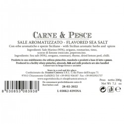 Flavored Sea Salt for Meat and Fish - Cutrera - 200gr