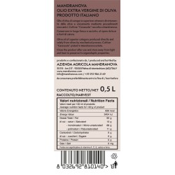 Extra Virgin Olive Oil Cerasuola - Mandranova - 500ml
