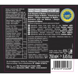 Balsamic Vinegar of Modena PGI Allambrusco - I Solai - 250ml