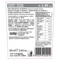 Balsamic Vinegar of Modena PGI Platinum Seal - I Solai - 250ml