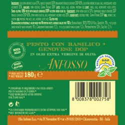 Pesto with genovese basil PDO without garlic in Extra Virgin Olive Oil - Anfosso - 180gr