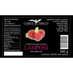 Raspberry Extra Jam - Agraria Riva del Garda - 340gr