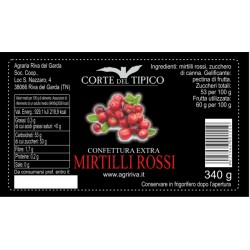 Cranberry Extra Jam - Agraria Riva del Garda - 340gr