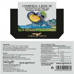 Susina di Dro DOP Damson Compote - Agraria Riva del Garda - 340gr