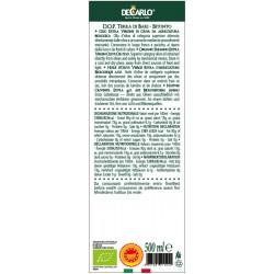 Extra Virgin Olive Oil PDO Tenuta Arcamone Organic - De Carlo - 500ml