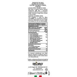 Extra Virgin Olive Oil il Classico Can - De Carlo - 1l