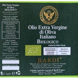 Extra Virgin Olive Oil can - Bardi Carraia - 250ml