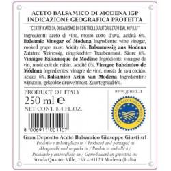 Balsamic Vinegar of Modena PGI 1 Silver Medal - Giusti - 250ml