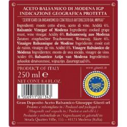 Balsamic Vinegar of Modena PGI 3 Gold Medals - Giusti - 250ml