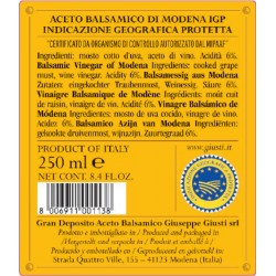 Balsamic Vinegar of Modena PGI 4 Gold Medals - Giusti - 250ml