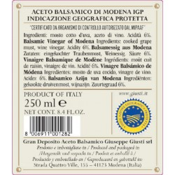 Balsamic Vinegar of Modena PGI 5 Gold Medals - Giusti - 250ml