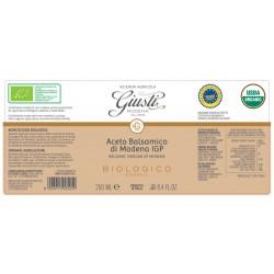 Organic Balsamic Vinegar of Modena PGI 1 seal - Giusti - 250ml