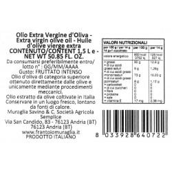 Extra Virgin Olive Oil Rainbow Ceramic Jar Magnum - Muraglia - 1.5l