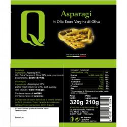 Asparagus in extra virgin olive oil - Quattrociocchi - 320gr