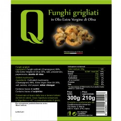 Grilled Mushrooms in extra virgin olive oil - Quattrociocchi - 320gr