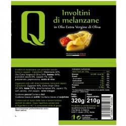 Eggplant rolls in extra virgin olive oil - Quattrociocchi - 320gr