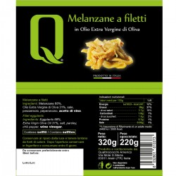 Eggplant fillets in extra virgin olive oil - Quattrociocchi - 320gr