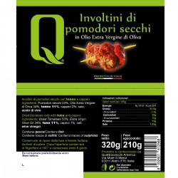 Dried Tomatoes rolls in extra virgin olive oil - Quattrociocchi - 320gr