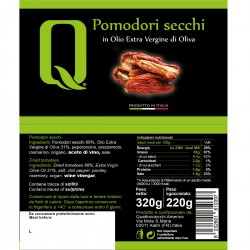 Dried tomatoes in extra virgin olive oil - Quattrociocchi - 320gr