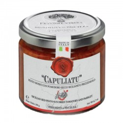 "Red Pesto with sun dried tomatoes ""Capuliatu"" - Cutrera - 190gr"